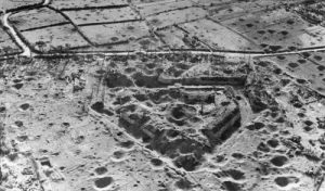 Bomb craters outside of Brest