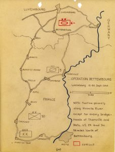 Map of Operation Bettembourg