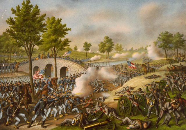 Battle of Antietam painting