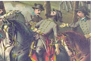 Stonewall Jackson is wounded by friendly fire at Chancellorsville